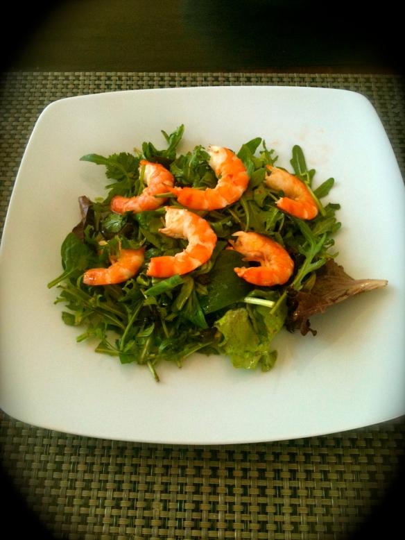 Salade de crevettes à la thaÏ